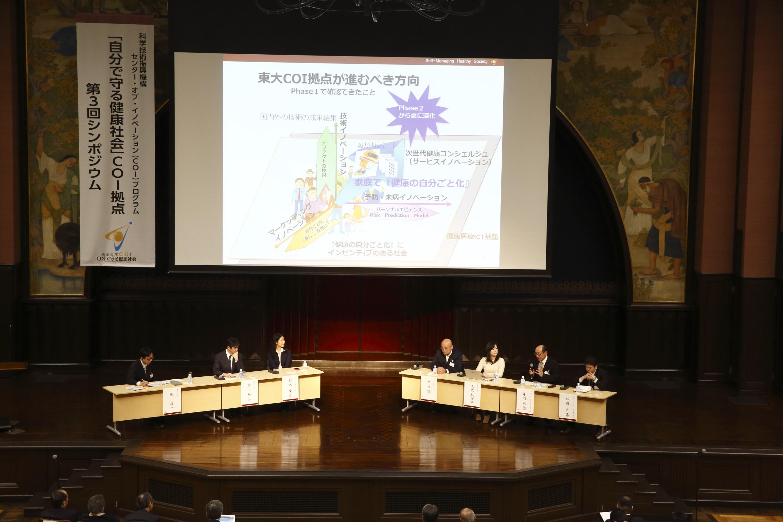 平成28年3月2日安田講堂にて第3回自分で守る健康社会COI拠点シンポジウムを開催しました。
